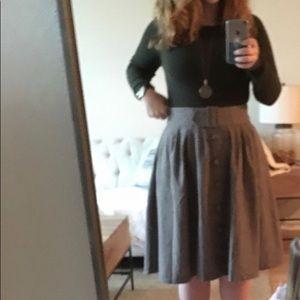 Intern of Fate Midi Skirt in Latte in L